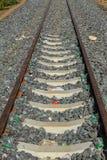 Binario ferroviario Fotografie Stock Libere da Diritti