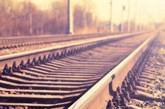 Binario ferroviario Immagini Stock Libere da Diritti