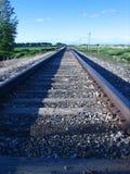 Binario ferroviario Fotografia Stock