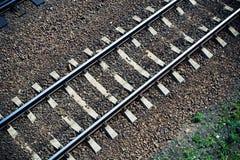 Binario ferroviario da sopra fotografia stock libera da diritti