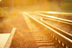 Binario ferroviario messo a fuoco De immagini stock libere da diritti