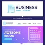 Binario hermoso de la marca del concepto del negocio, código, codificación, datos ilustración del vector
