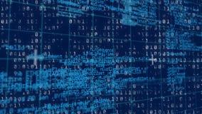 Binario y códigos de programa ilustración del vector