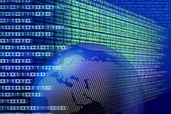 binarna globalna technologia ilustracja wektor