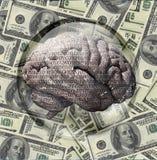 Binarna mózg USA waluta royalty ilustracja
