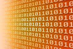 binarnego kodu ściana Zdjęcia Stock