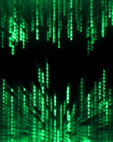 binarnego kodu dane pokazu spływanie Obrazy Royalty Free