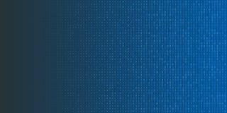 Binarnego kodu halftone tło Zero i jeden abstrakcjonistyczni symbole Cyfrowania programowania pojęcia ilustracja ilustracja wektor