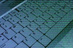 binarnego kodu klawiatura Zdjęcie Royalty Free
