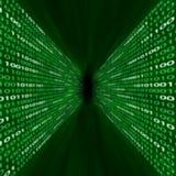 binarnego kodu korytarza zieleń Zdjęcia Stock