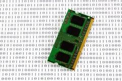binarnego kodu pamięci moduł obrazy royalty free