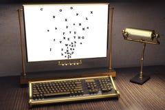 binarnego kodu pojęcia ewidencyjny laptopu bocznego widok biel royalty ilustracja
