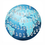 Binarnego kodu pojęcie Obraz Stock