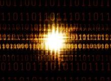 binarnego kodu rozjarzony światło royalty ilustracja