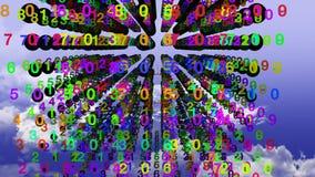 binarni danych ilustracji