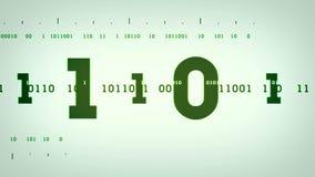 Binarni strumienie Zielony Lite ilustracja wektor