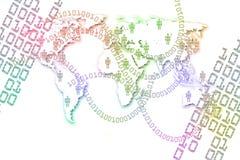 Binarny Abstrakcjonistyczny tło. Zdjęcie Royalty Free