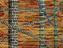 binarny kod Ilustracja Wektor