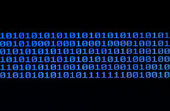 binarny kod Fotografia Stock