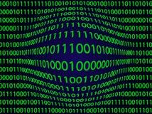 Binarny komputerowego kodu wzrokowy szpotawy ilustracja wektor