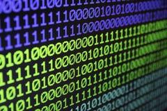 Binarny matrycowy komputerowy dane kodu bezszwowy tło Binarny dorsz Zdjęcia Royalty Free