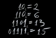 Binarny numerowy system Zdjęcia Royalty Free