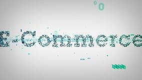 Binarny słowo kluczowe handlu elektronicznego biel ilustracji
