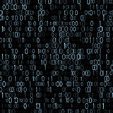 Binarny system komputerowy Komputerowa arytmetyka Minimalna jednostka informacja wektor obrazy stock