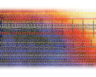 binarny tło rytmu serca Obraz Stock