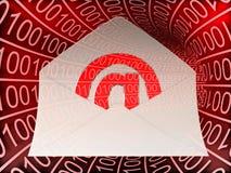 Binarny tunel z emaila przybyciem Zdjęcia Royalty Free