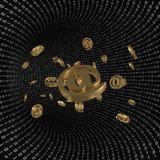 Binarny tunel z emaila przybyciem Zdjęcie Royalty Free