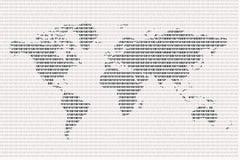 binarny świat Zdjęcie Stock