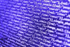 Binarnych cyfr kodu edytorstwo zdjęcia stock