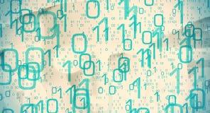 Binarnych dane komputerowego hackera cyber ochrony metafora Zdjęcie Stock