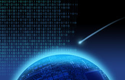 binary över skyttestjärnavärlden stock illustrationer