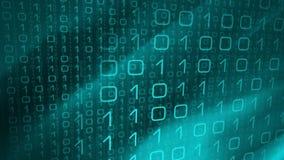 Binary нул одна абстрактная предпосылка, программное обеспечение алгоритма компьютера иллюстрация вектора