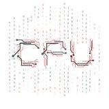 Binary цепи C.P.U. Стоковые Изображения