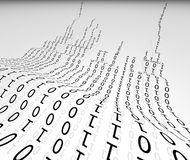 Binary. Abstract panel with binary language royalty free illustration