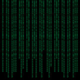 Binary abstract background Stock Image