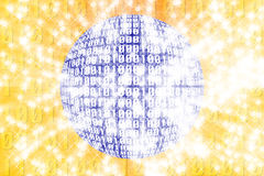 Binary abstract background. Royalty Free Stock Photo