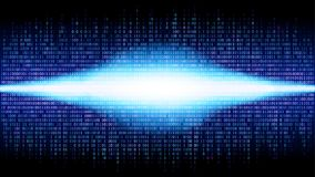 Binary abstract background with bright radiance in the digital space, glowing cloud of big data stock illustration