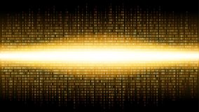 Binary abstract background with bright radiance in the digital space, glowing cloud of big data, stream of information