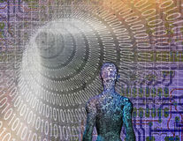 Binary Abstract with Figure Stock Photos
