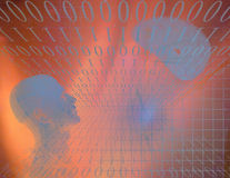 Binary Abstract with Figure Stock Photography