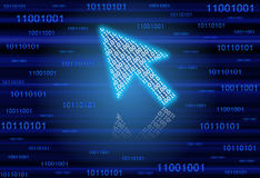 Binary arrow cursor Stock Photo
