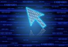 Binary Arrow Cursor Stock Photo