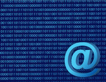Binary att mail Royalty Free Stock Photography