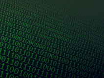 Binary background. Abstract background with green binary combinations stock images