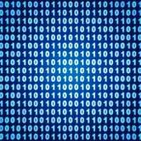Binary background. Blue binary background - 3d render Stock Photo