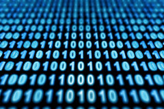 Binary background. Blue binary background - 3d render Stock Images